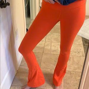Splits 59 Orange Flare Leggings